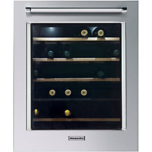 Buy KitchenAid KCBWX70600R Built-In Wine Cabinet, A Energy Rating, 56cm Wide, Right-hand Hinge, Inox Steel Online at johnlewis.com