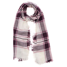 Buy Oasis Stephanie Check Scarf, Burgundy Online at johnlewis.com