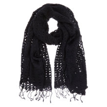 Buy Mint Velvet Lace Scarf, Black Online at johnlewis.com