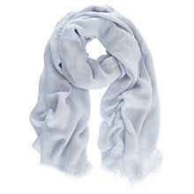 Buy Mint Velvet Textured Scarf, Blue Sky Online at johnlewis.com