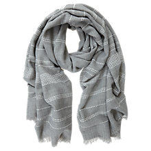 Buy Mint Velvet Stab Stitch Stripe Scarf Online at johnlewis.com
