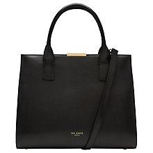 Buy Ted Baker Laurena Leather Tote Bag, Black Online at johnlewis.com