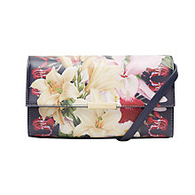 Buy Ted Baker Baruna Botanical Trail Leather Across Body Bag, Navy Online at johnlewis.com