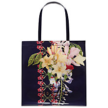 Buy Ted Baker Tanacon Botanical Trail Large Shopper Bag, Navy Online at johnlewis.com