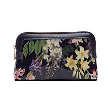 Buy Ted Baker 	Amall Botanical Trail Makeup Bag, Navy Online at johnlewis.com