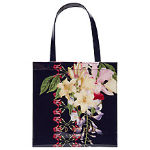 Buy Ted Baker Tracon Botanical Trail Small Shopper Bag, Navy Online at johnlewis.com