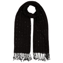 Buy Jacques Vert Sequin Scarf, Black Online at johnlewis.com