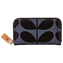 Buy Orla Kiely Solid Stem Print Zip Purse, Midnight Blue Online at johnlewis.com