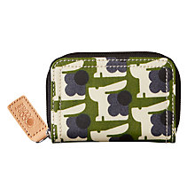 Buy Orla Kiely Baby Bunny Print Medium Zip Wallet, Grass Online at johnlewis.com