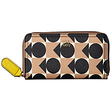 Buy Orla Kiely Spot Square Triangle Print Vinyl Big Zip Wallet, Blush Online at johnlewis.com