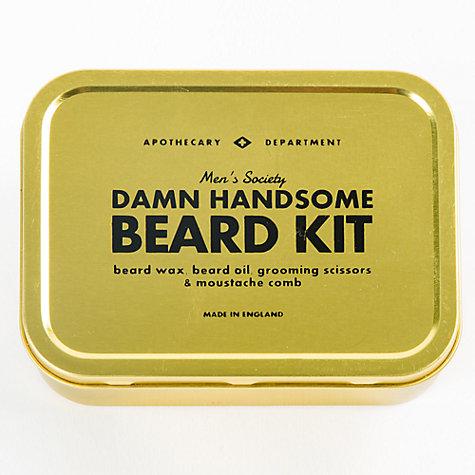 buy men 39 s society beard grooming kit john lewis. Black Bedroom Furniture Sets. Home Design Ideas