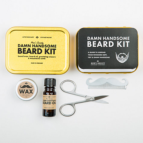buy men 39 s society beard grooming kit john lewis. Black Bedroom Furniture Sets. Home Design Ideas