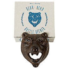 Buy Men's Society Wall Mounted Bear Head Bottle Opener Online at johnlewis.com