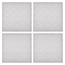 Buy Design Project by John Lewis No.108 Napkins, Set of 4, White / Grey Online at johnlewis.com