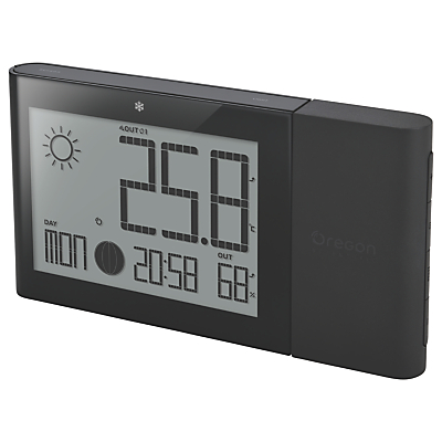 Image of Oregon Scientific Alize Weather Station Advanced Clock, Black