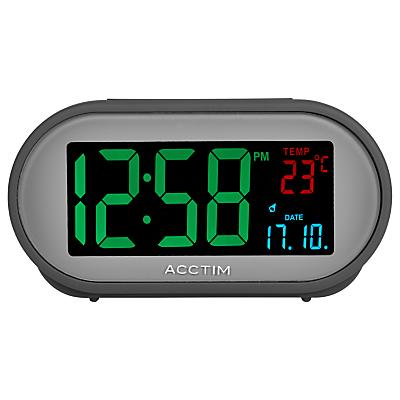 Image of Acctim Grey Smart Connector USB LCD Alarm Clock, Grey