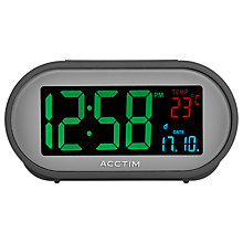 Buy Acctim Grey Smart Connector USB LCD Alarm Clock, Grey Online at johnlewis.com