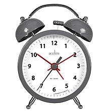 Buy Acctim Zeno Twinbell London Alarm Clock Online at johnlewis.com