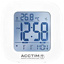 Buy Acctim Sandby Radio Controlled Alarm Clock, White Online at johnlewis.com