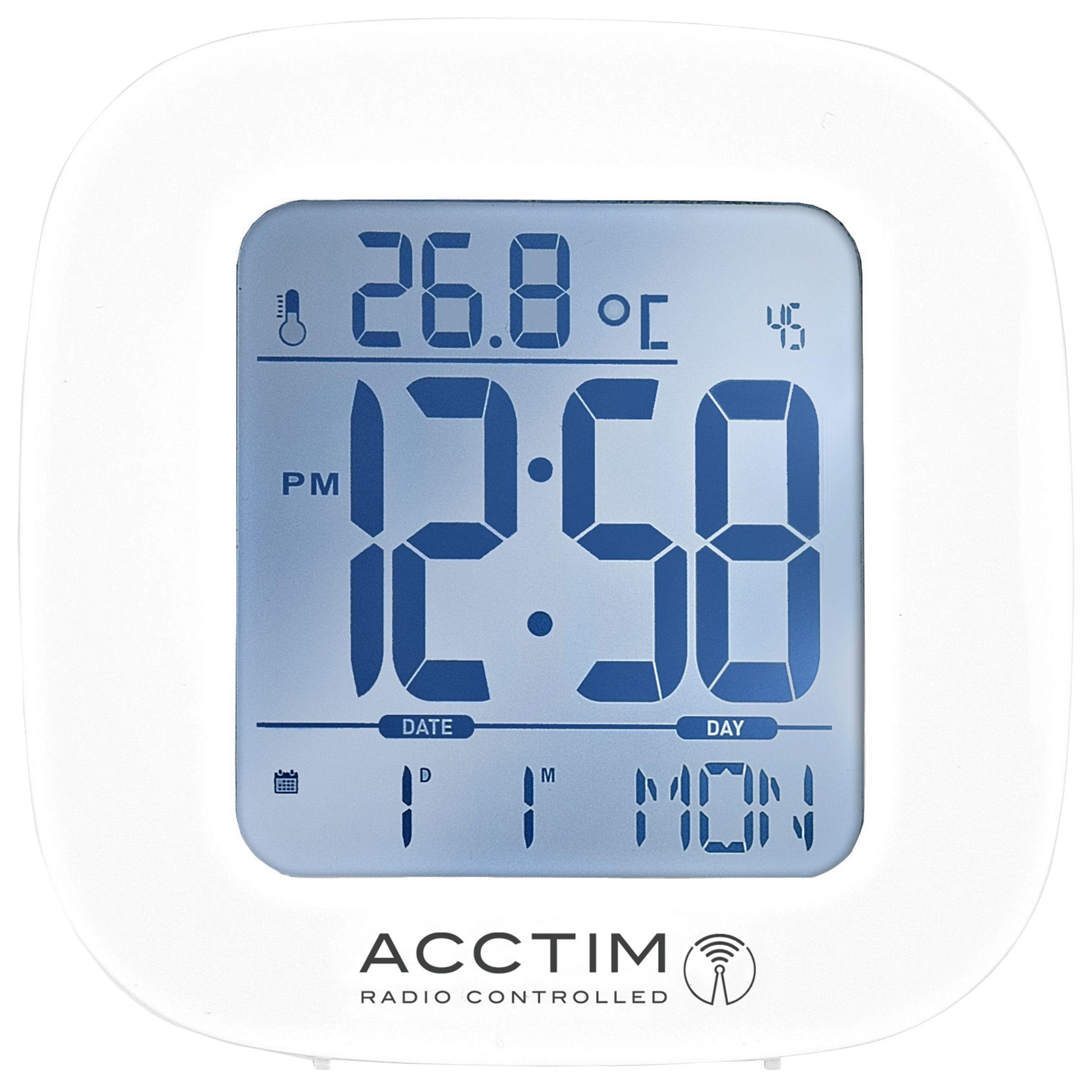 Acctim Acctim Sandby Radio Controlled Alarm Clock, White
