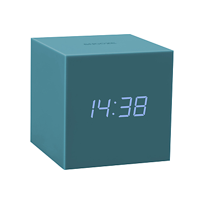 Image of Gingko Soft Touch Click Clock Alarm Clock