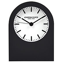 Buy London Clock Company Titanium Arch Black Mantel Clock Online at johnlewis.com