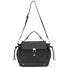 Buy Miss Selfridge Drawstring Bag, Black Online at johnlewis.com