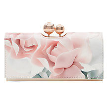 Buy Ted Baker Della Porcelain Rose Leather Matinee Purse, Nude Pink Online at johnlewis.com