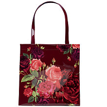 Buy Ted Baker Jenicon Juxtapose Rose Small Icon Bag, Grape Online at johnlewis.com