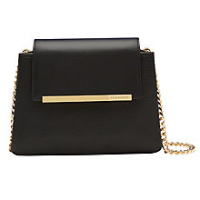 Buy Ted Baker Fae Leather Mini Across Body Bag, Black Online at johnlewis.com