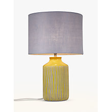 Buy John Lewis Afra Saffron Stripe Stone Lamp Base Online at johnlewis.com