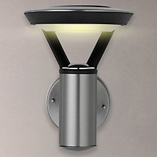 Buy John Lewis Outdoor Solar LED Stainless Steel Wall Light, Clear/Black Online at johnlewis.com
