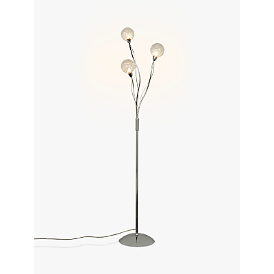 John Lewis Robertson Floor Lamp, 3 Light, Clear