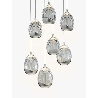 John Lewis Droplet LED Pendant Ceiling Light, 7 Light, Chrome