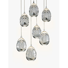 Buy John Lewis Droplet LED Pendant Ceiling Light, 7 Light, Chrome Online at johnlewis.com