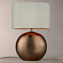 Buy John Lewis Benjamin Ceramic Table Lamp, Bronze Online at johnlewis.com