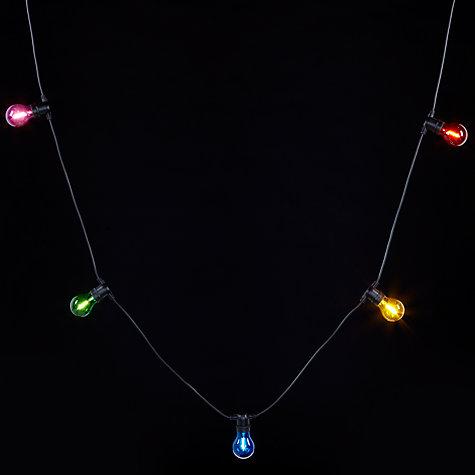 Buy John Lewis Festoon Outdoor Coloured Line Lights Multi