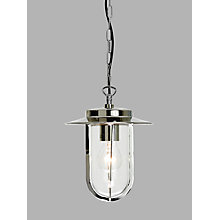 Buy ASTRO Montparnasse Outdoor Pendant Porch Light, Polished Nickel Online at johnlewis.com