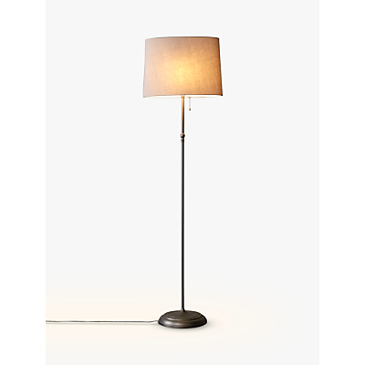 John Lewis Isabel Oval Shade Floor Lamp, Pewter