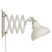 Buy John Lewis Croft Collection Campbell Extending Wall Light, Stone Online at johnlewis.com