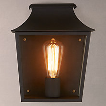 Buy ASTRO Richmond 7270 Outdoor Lantern Wall Light, Black Online at johnlewis.com