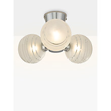 Buy John Lewis Liam 3 Ball Lined Glass Flush Ceiling Light, Clear/Chrome Online at johnlewis.com