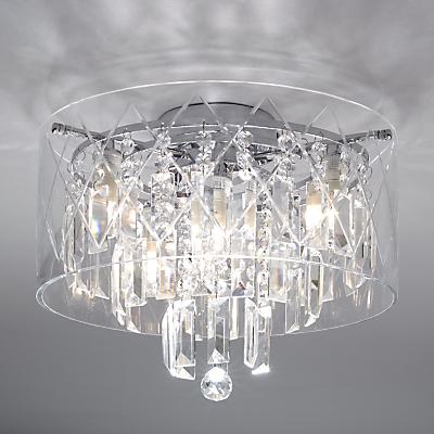 i4DZINE Sophia Crystal Large Bathroom Light, Crystal Clear
