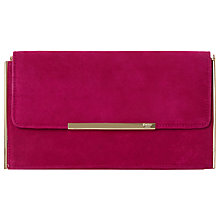 Buy Dune Blanka Long Suede Clutch Bag, Fuchsia Online at johnlewis.com