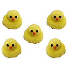 Buy Creative Party Fluffy Chicks Sugarcraft Topper, Pack of 5 Online at johnlewis.com