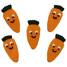 Buy Creative Party Happy Carrots Sugarcraft Topper, Pack of 5 Online at johnlewis.com