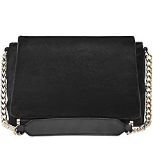Buy Reiss Sahara Large Leather Shoulder Bag, Black Online at johnlewis.com
