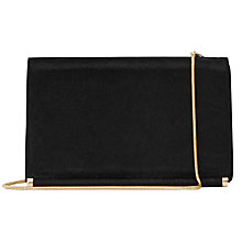 Buy Reiss Rosa Medium Leather Shoulder Bag, Black Online at johnlewis.com