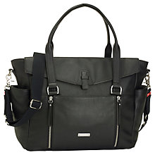 Buy Storksak Emma Leather Changing Bag, Black Online at johnlewis.com
