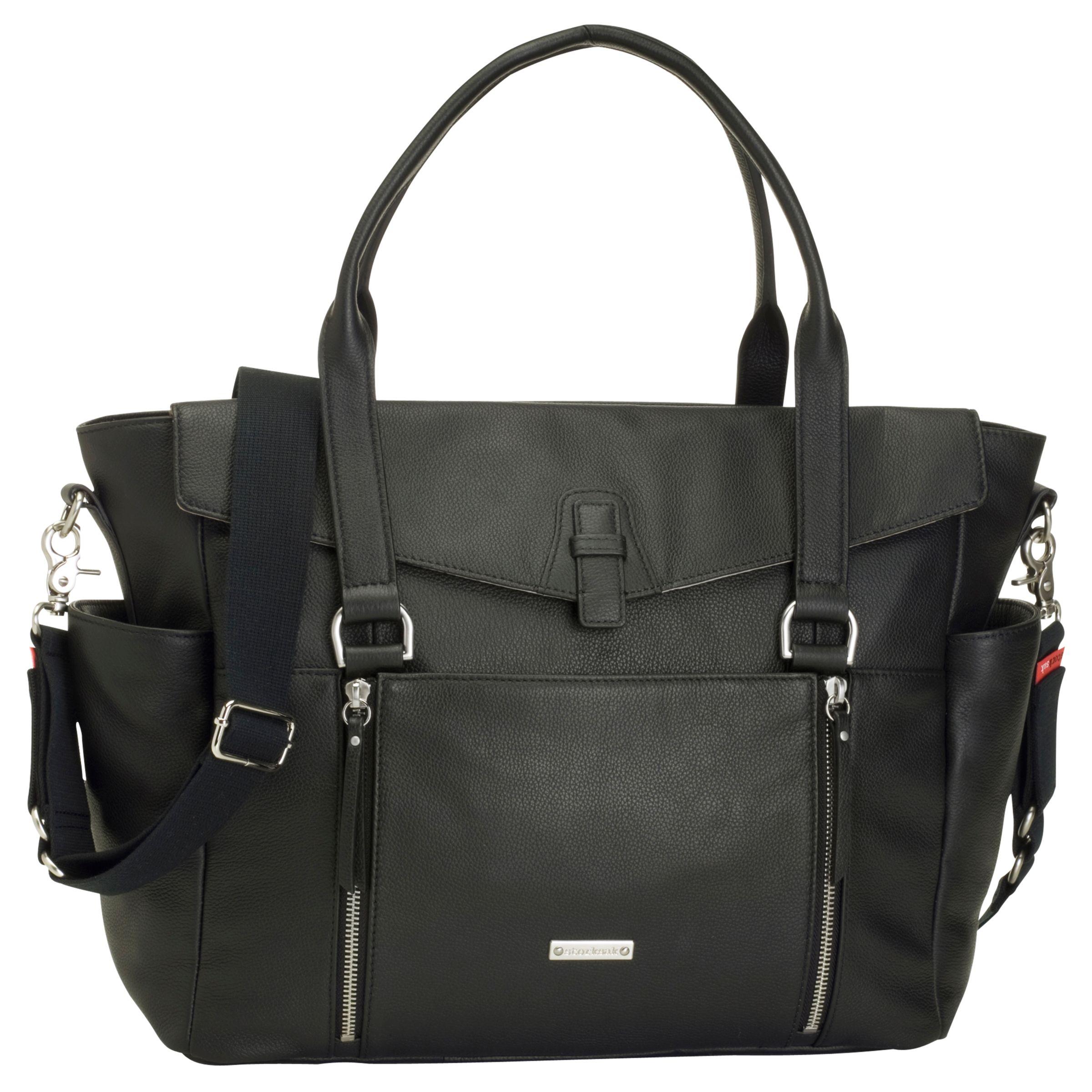 Storksak Storksak Emma Leather Changing Bag, Black